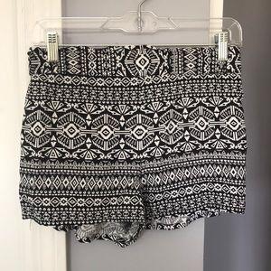 Charlotte Russe Tribal Shorts